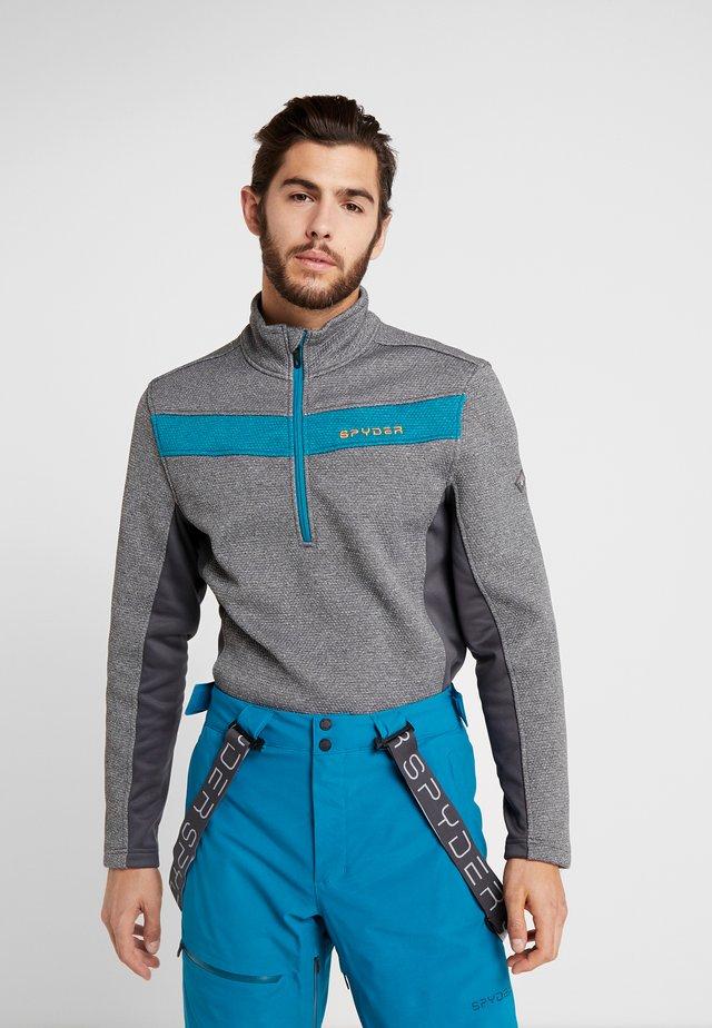 ENCORE HALF ZIP - Fleece jumper - ebony