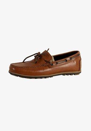 GEOX MIRVIN - Boat shoes - cognac