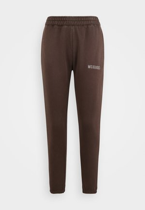 MISSGUIDED ACID WASH JOGGER - Tracksuit bottoms - chocolate