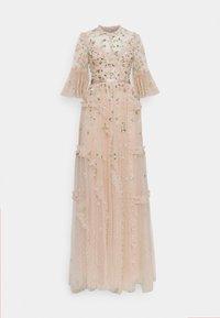 Needle & Thread - SHIMMER DITSY LONG SLEEVE GOWN - Společenské šaty - pearl rose - 0