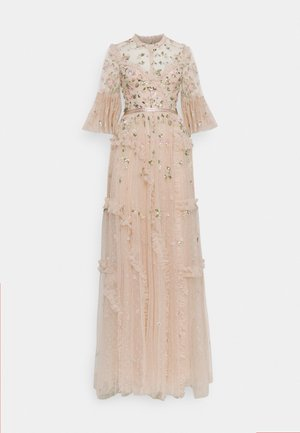 SHIMMER DITSY LONG SLEEVE GOWN - Iltapuku - pearl rose