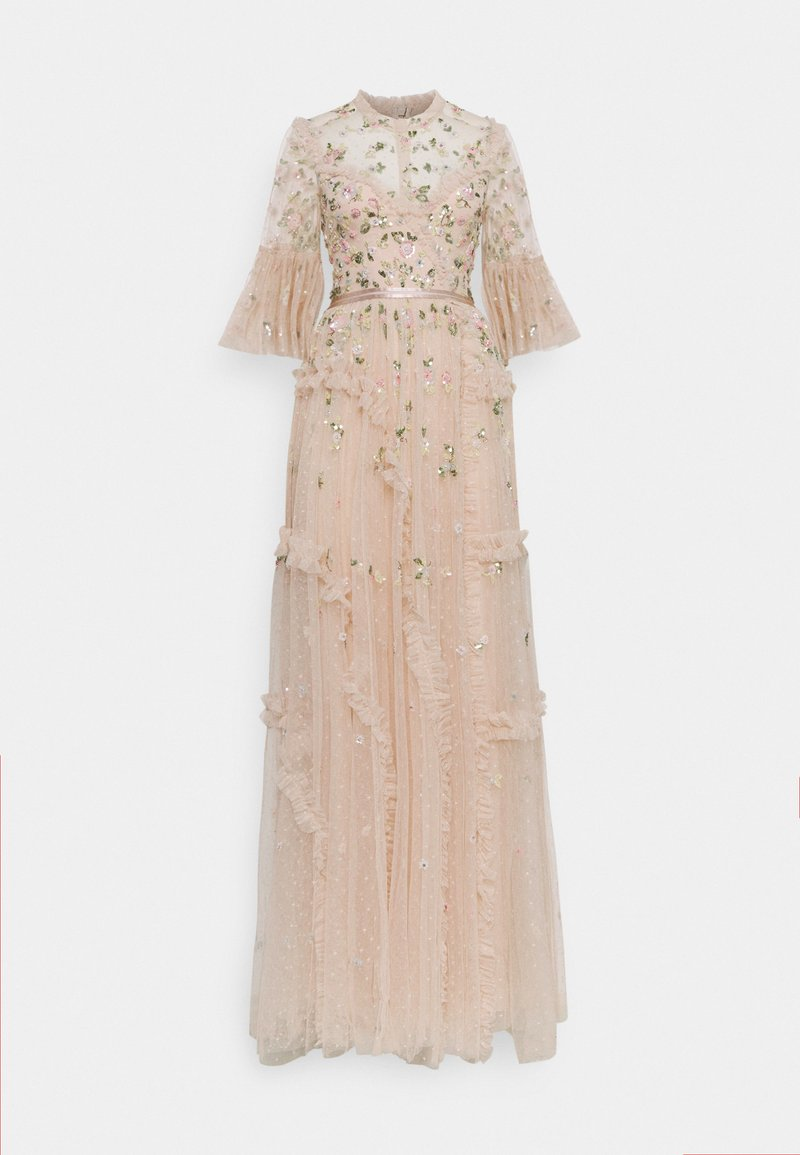 Needle & Thread - SHIMMER DITSY LONG SLEEVE GOWN - Occasion wear - pearl rose
