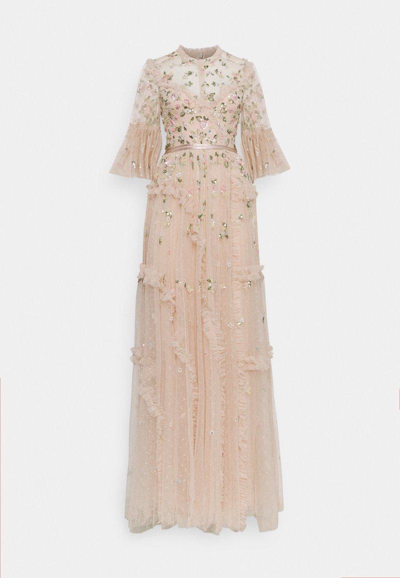 Needle & Thread - SHIMMER DITSY LONG SLEEVE GOWN - Společenské šaty - pearl rose