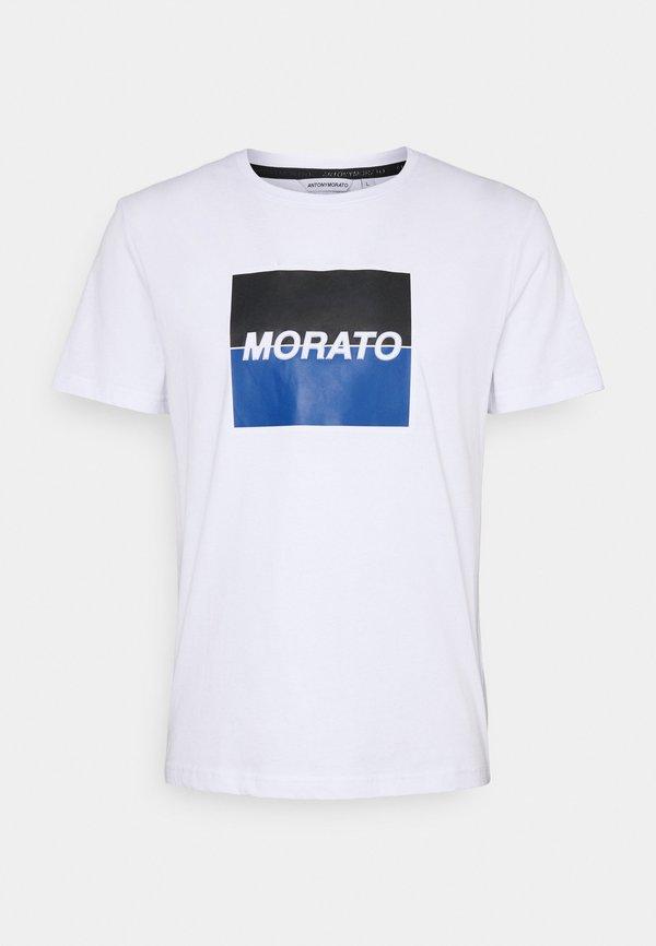 Antony Morato SLIM FIT WITH LOGO - T-shirt z nadrukiem - bianco/biały Odzież Męska BACD