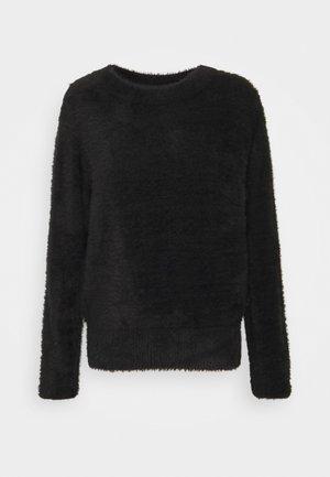 NMJESS O NECK - Stickad tröja - black