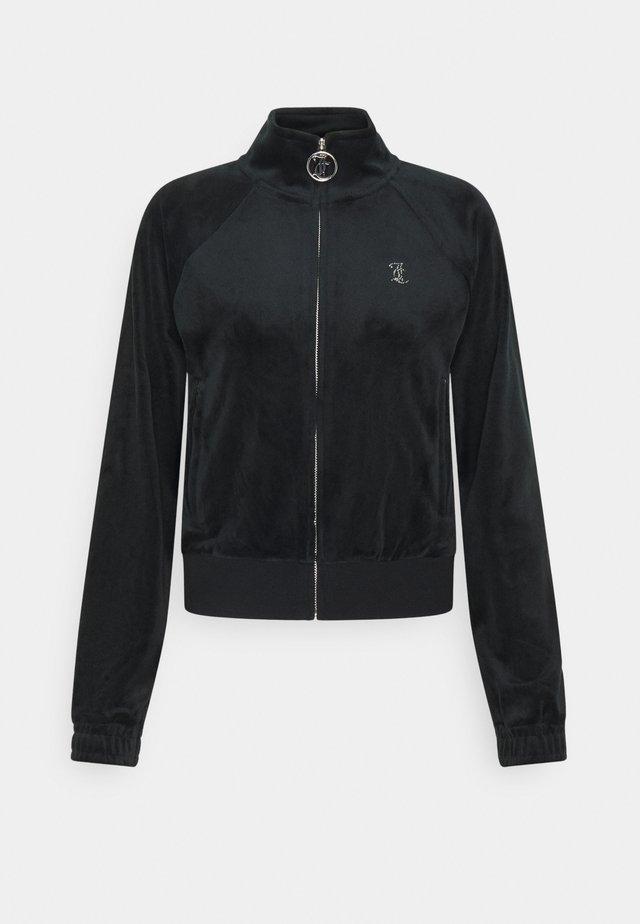 TANYA - veste en sweat zippée - black