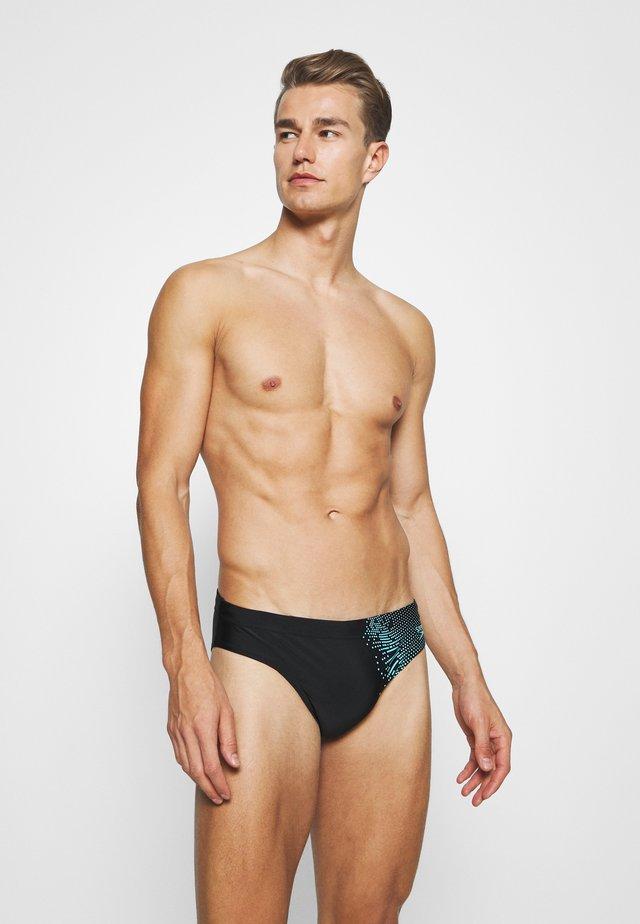 Bañador - black/aqua splash