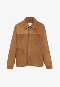 Mango - BONE-I - Leather jacket - beige - 6