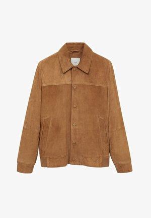 BONE-I - Leather jacket - beige