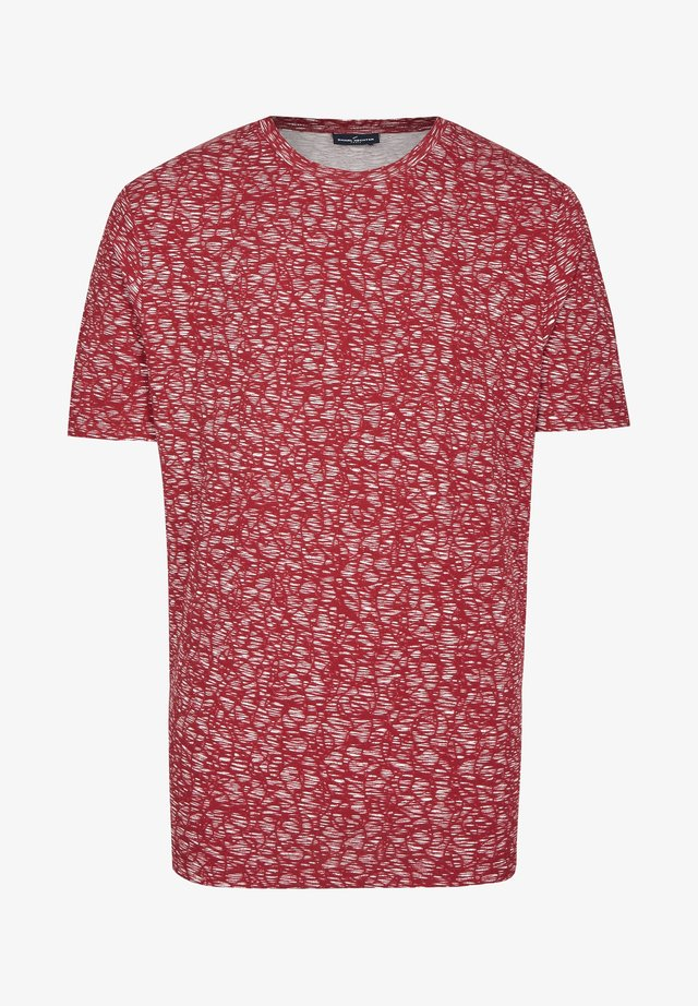 MIT ALL OVER DRUCK - Print T-shirt - dark red