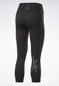 Reebok - LES MILLS® HIGH-RISE 3/4 LEGGINGS - 3/4 sports trousers - black - 8