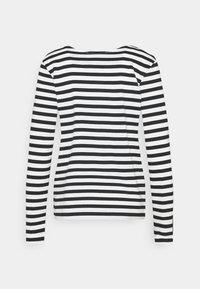 Selected Femme - SLFSTANDARD TEE  - Long sleeved top - black/snow white - 1