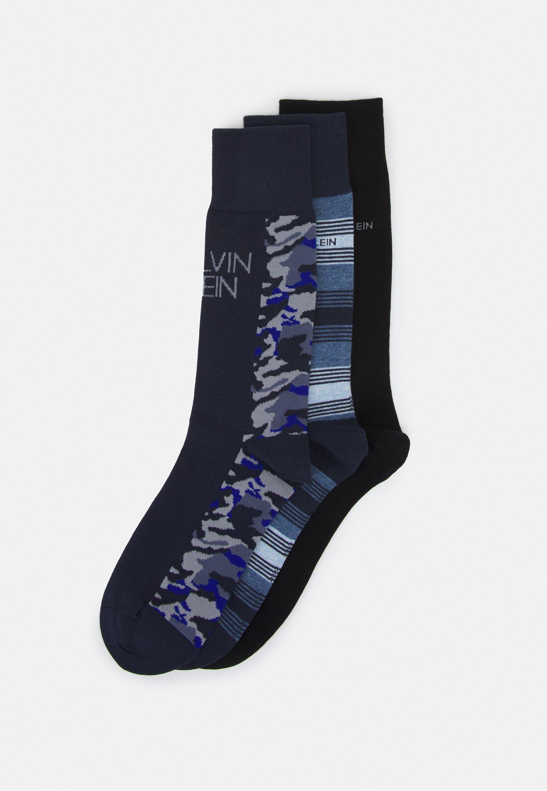 Men MENS COLOR BLOCKING CAMO CREW CONNOR 3 PACK - Socks