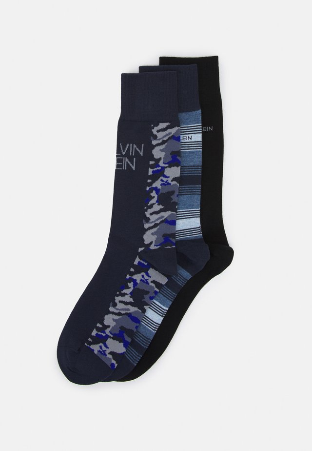 MENS COLOR BLOCKING CAMO CREW CONNOR 3 PACK - Socks - navy combo