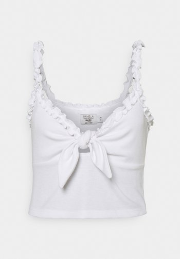PAMELA REIF X ZALANDO FRONT TIE SINGLET - Top - white