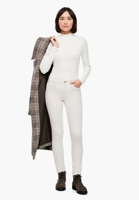 s.Oliver - Trousers - cream - 1