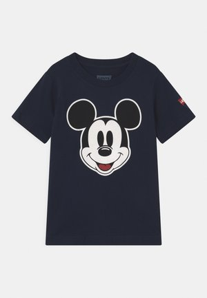 MICKEY MOUSE HEAD UNISEX - Print T-shirt - obsidian