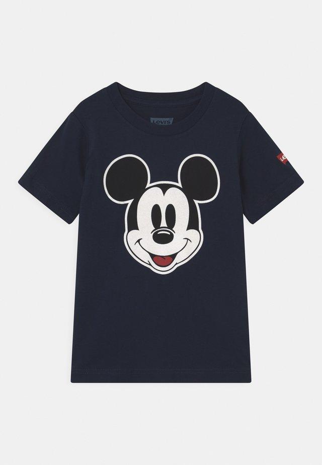 MICKEY MOUSE HEAD UNISEX - Print T-shirt - obsidian