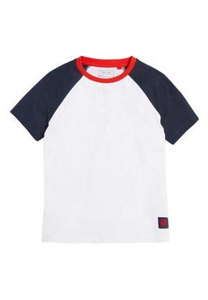 NAVY/WHITE SHORT SLEEVE RAGLAN T-SHIRT (3-16YRS) - Print T-shirt - blue