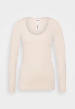 OBJKATE UNECK  - Long sleeved top - sandshell