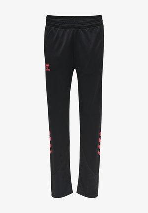 Tracksuit bottoms - black/diva pink