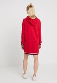 Superdry - COLLEGE HOODED DRESS - Day dress - burnt red/ice marl - 2