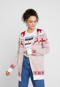 Vila - Cardigan - snow white/red - 0