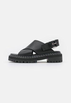 LUG SOLE - Sandales à plateforme - black