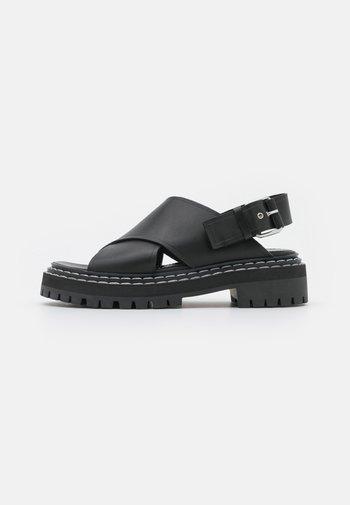 LUG SOLE - Korkeakorkoiset sandaalit - black
