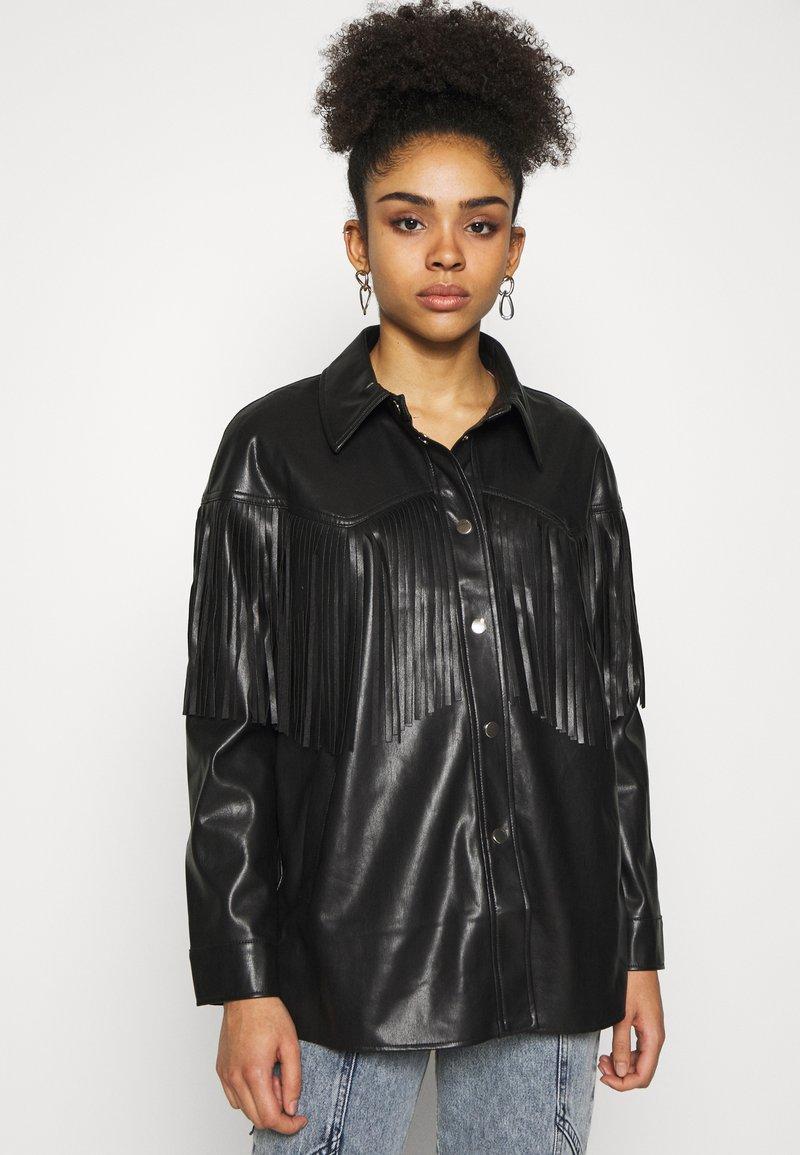 River Island Petite - Faux leather jacket - black