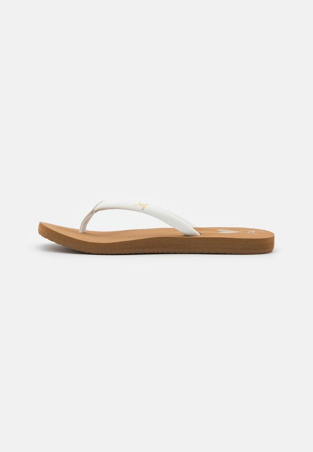 SEAS - Flip Flops - tan/white