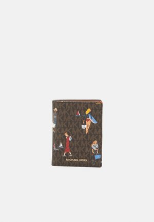 BEDFORD TRAVEL PASSPORT WALLET - Wallet - brown multi