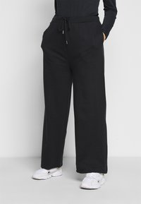 Even&Odd Curvy - Tracksuit bottoms - black - 0
