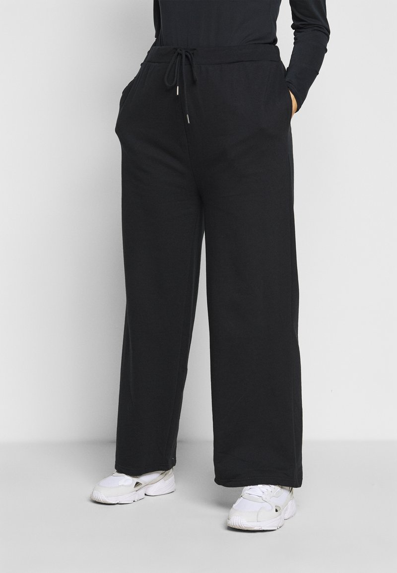 Even&Odd Curvy - Tracksuit bottoms - black