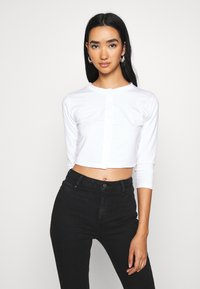 Missguided - BUTTON FRONT LONG SLEEVE CROP 2 PACK - Topper langermet - black white - 3