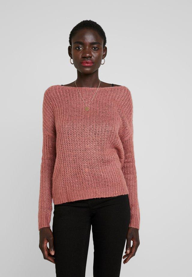 TWIST BACK JUMPER - Sweter - rose
