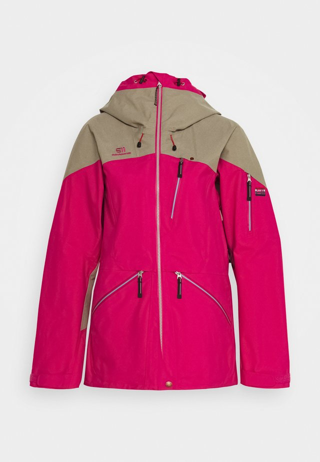 WOMENS BACKSIDE JACKET - Skijakker - pink