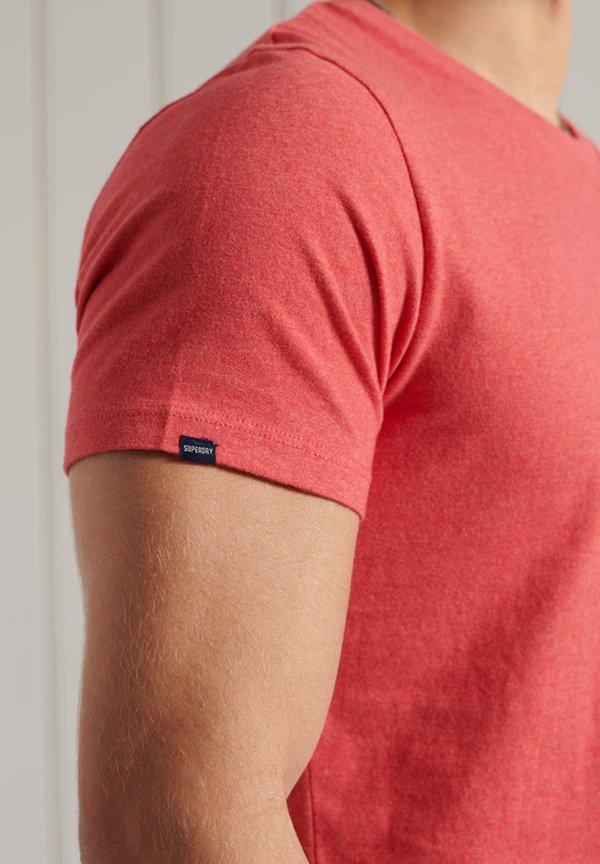 Superdry T-shirt basic - coral marl/koralowy Odzież Męska XPXM