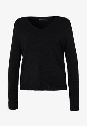 ONLLESLY NEW V-NECK - Jersey de punto - black