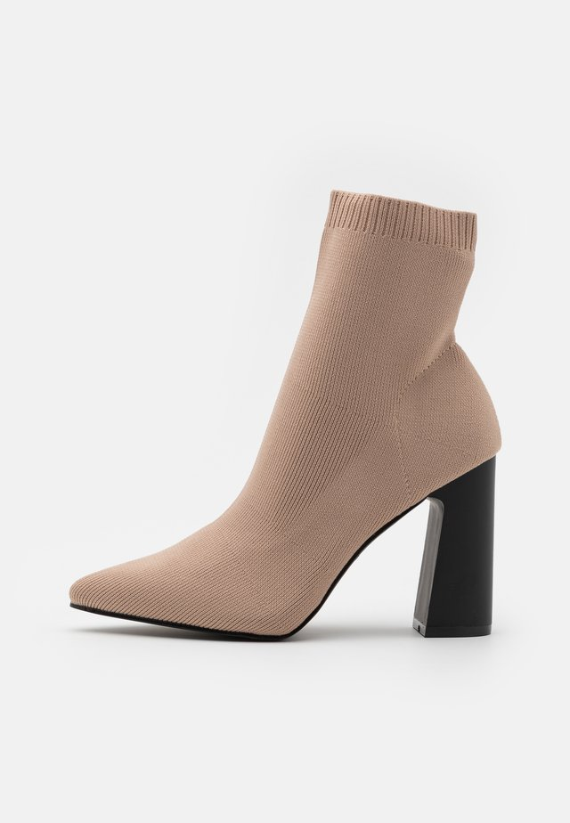 DEBRAH - High heeled ankle boots - nude