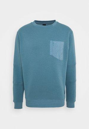NYLON BLOCKED CREW NECK - Sweatshirt - slate blue/grey