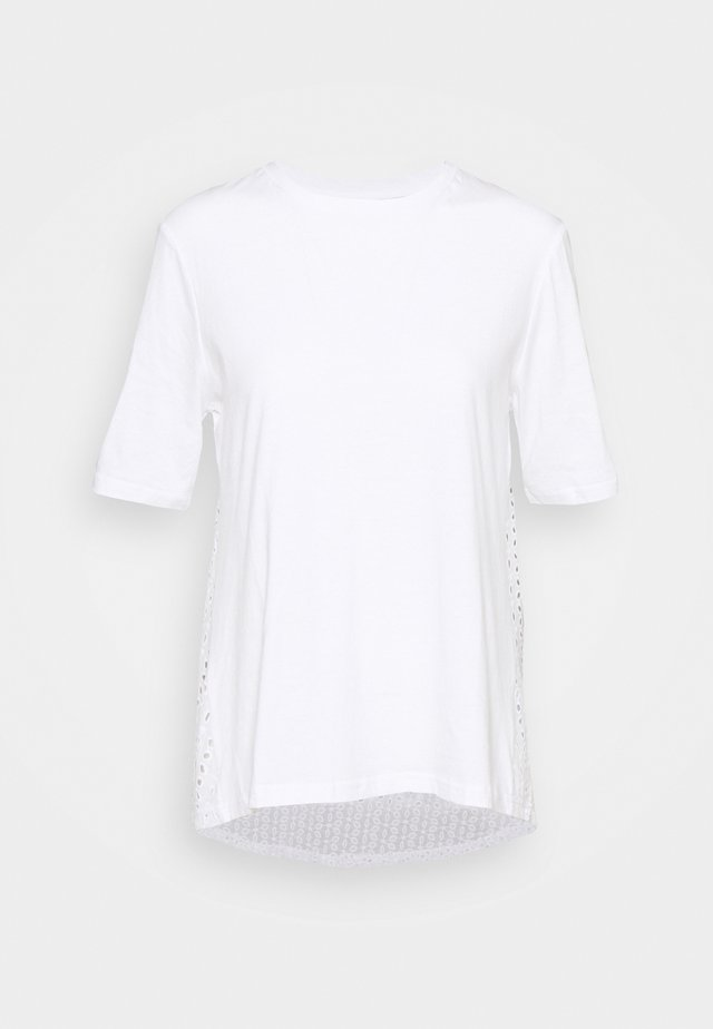 ONLMETTE LIFE - Triko spotiskem - bright white