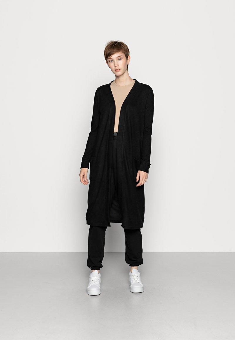 Noisy May - NMCITY LONG CARDIGAN - Vest - black