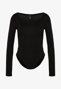 SCOOP NECK BODY - Long sleeved top - black