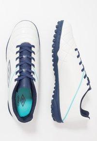 Umbro - MEDUSÆ III LEAGUE TF - Scarpe da calcetto con tacchetti - white/medieval blue/blue radiance - 1
