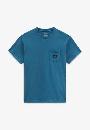 MN WOVEN PATCH POCKET M - Print T-shirt - moroccan blue