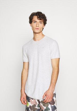 SOLID CREW STONE - Camiseta básica - vanilla ice