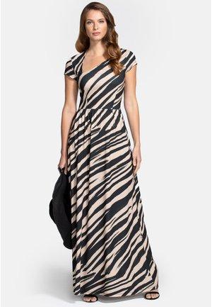 ASYMMETRIC NECKLINE - Maxi dress - animal stripe