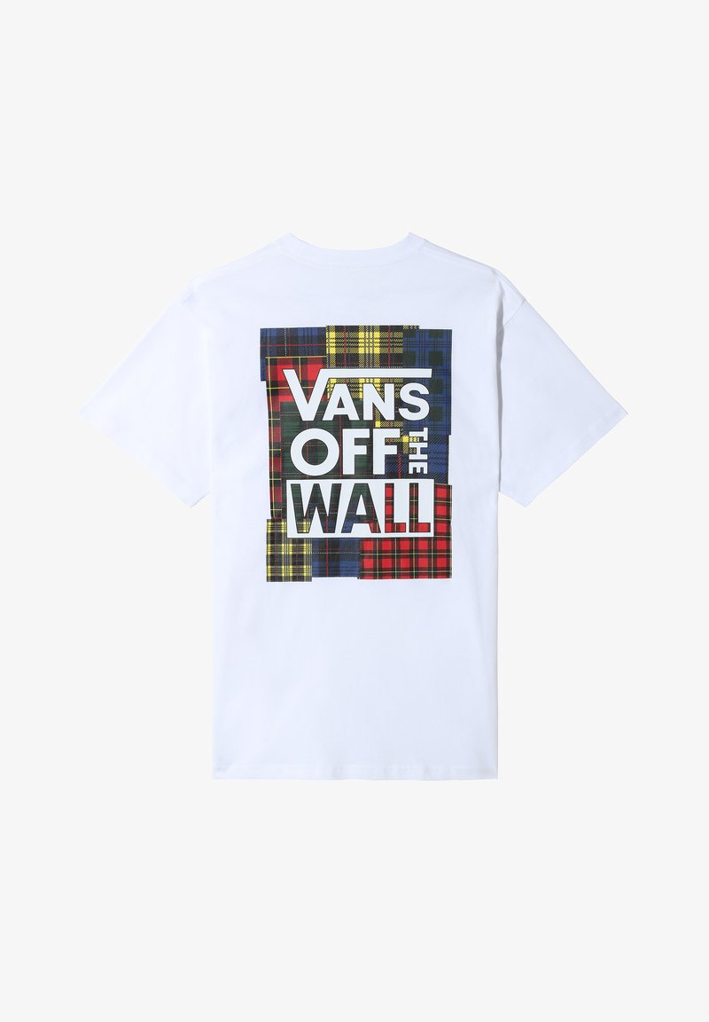 Vans - MN STITCH UP SS - Print T-shirt - white
