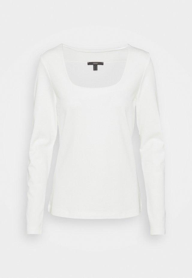 SQUARE NECK - T-shirt à manches longues - off white